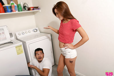Hardcore doxy Nina Nirvana attains fucked in group by the repair stud in the laundry room